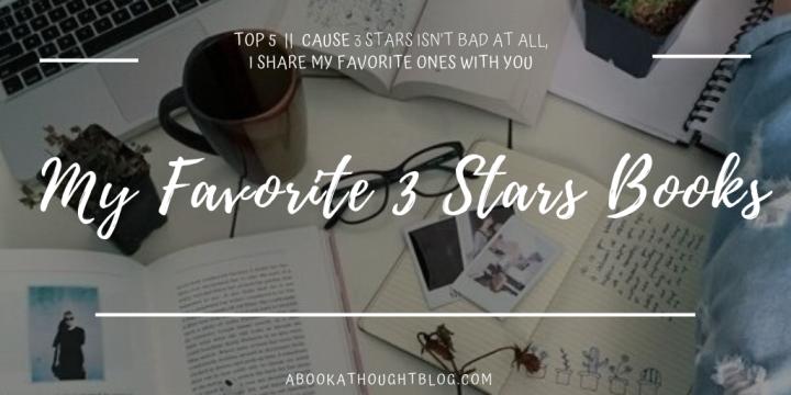 Top 5 || My Favorite 3 Stars Books☘️